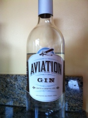 Aviation Gin, the old bottle