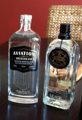 Aviation Gin in its new bottle, plus Jewel of Russia Ultra