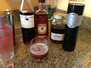 The Black Bourbon and its ingredients.