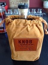 Knob Creek... looking stylish in leather!