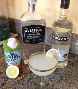 The Tiki-Tini and its ingredients.