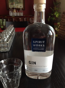 Spirit Works Distillery Gin, with love, from Sebastopol, CA