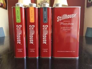 Stillhouse Moonshine; presenting Apple Crisp, Peach Tea, and Original